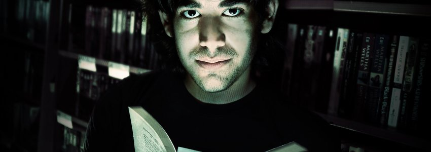 Aaron Swartz in a Library